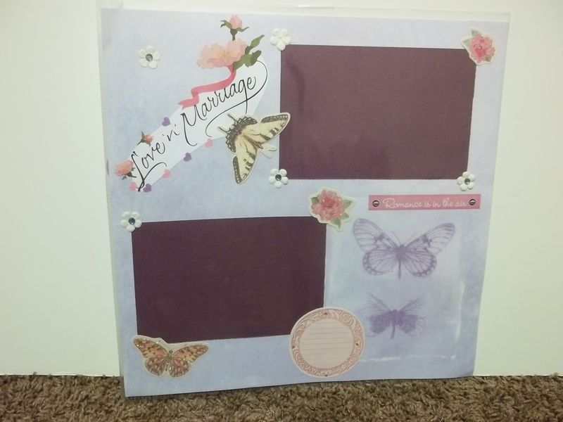 Marriage premade scrapbook page - product images