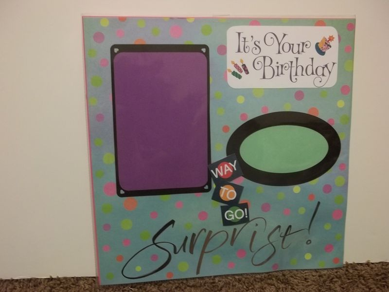 Happy Birthday premade scrapbook page - product images  of