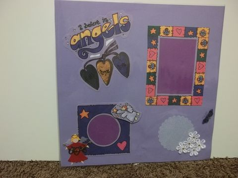 Angels,premade,scrapbook,page,angel, scrapbook, quilt