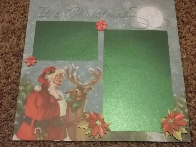 Merry Christmas tear bear premade scrapbook page - product images  of
