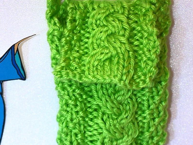 Lime green designer knitted cell phone, ipod, camera case, bag, pouch, or cozy - product images  of