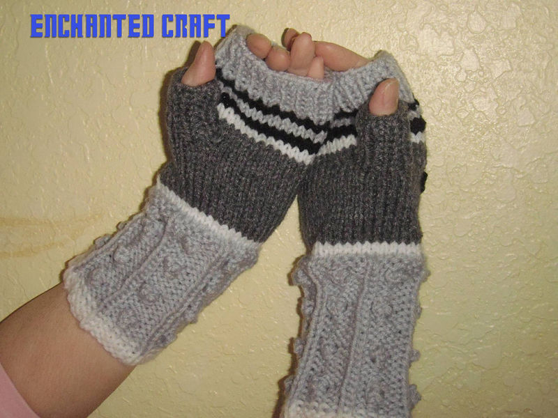 Doctor Who Fingerless Gloves DALEK style Knitted - product images  of