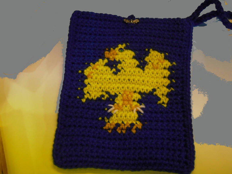 Harry Potter Ravenclaw Bag a cozy for your KINDLE, E-reader, Nook or use it as a wristlet - product images  of