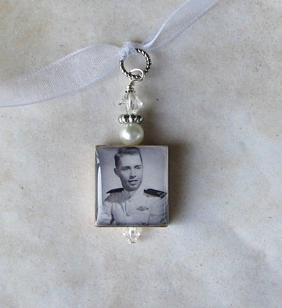 Double Sided Bouquet photo charm - product images  of