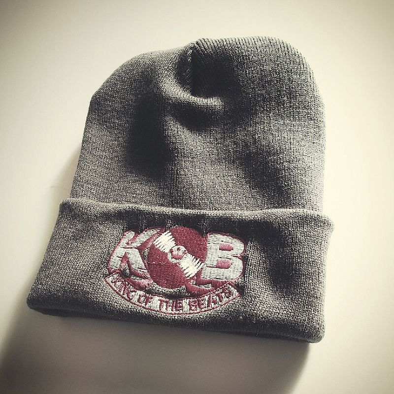 Grey King of the Beats Woolly Hat - product images