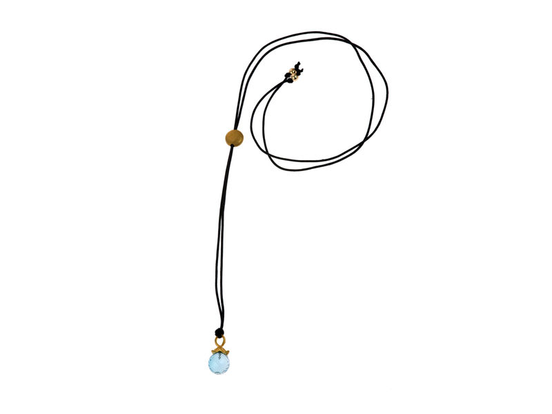 Flower Pendant Necklace Blue Topaz - product image
