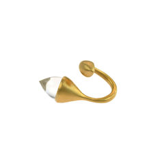 H20,Rock,Cystal,18ct.,Gold,Vermeil,-,Ring,Militza-Ortiz, jewellery, jewelry, accessories, Handmade Jewellery, fluid, Rock Crystal, Gold, Ring, Stacking Rings,  Militza Ortiz, contemporary jewellery