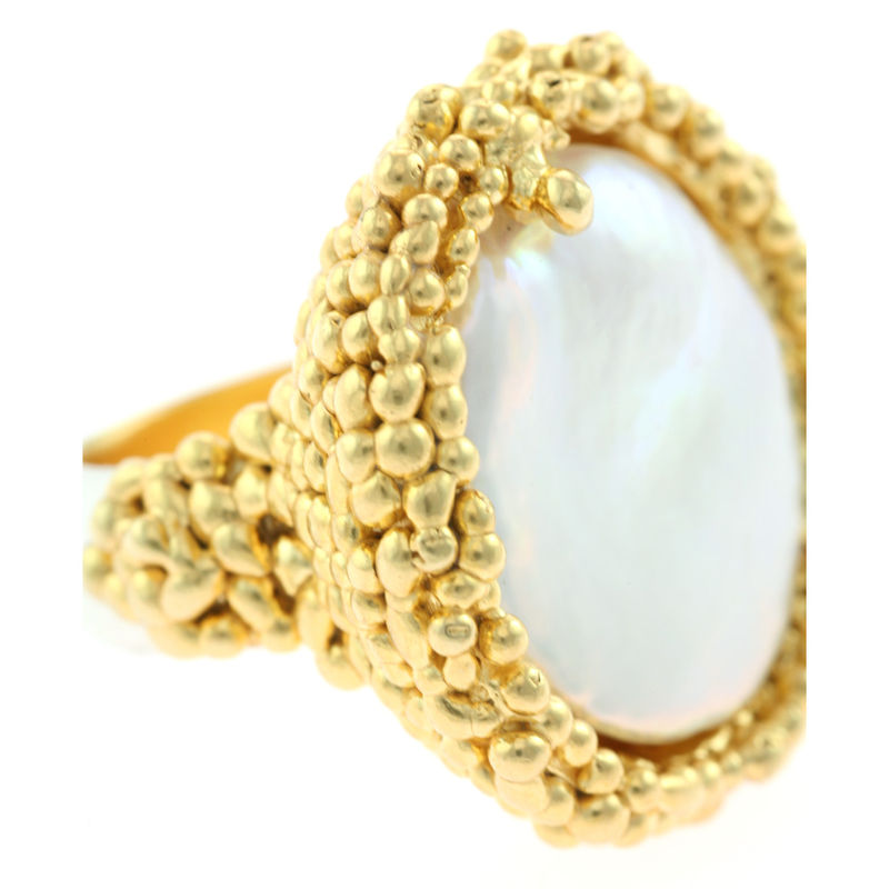 Organica Ring Baroque Fresh Water Pearl - Gold - product image