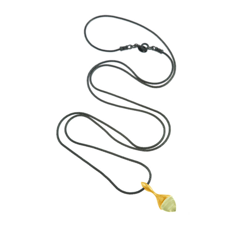 H20 Pendant Necklace Lemon Quartz on 18ct Gold Vermeil - product image