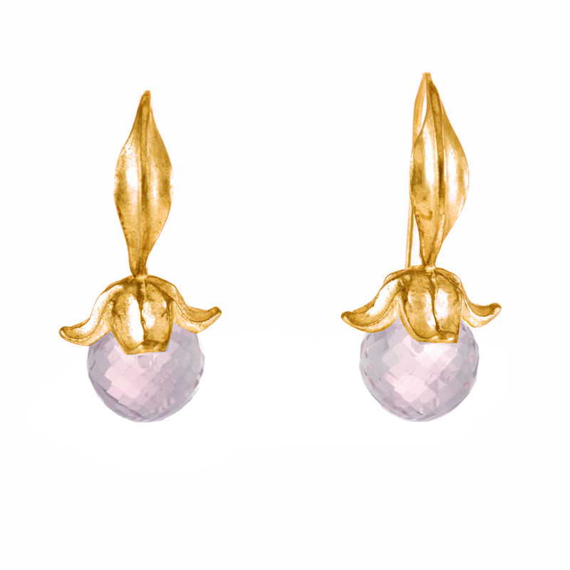 Flower Amethysts Gold - Earrings - product image