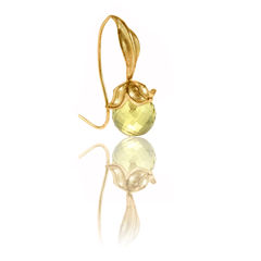 Flower Lemon Quartz Gold - Earrings - product images 1 of 3