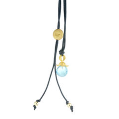 Flower Pendant Necklace Blue Topaz - product images 1 of 3