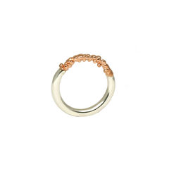 Rose,Gold,Organica,Band,Ring,Jewellery, jewelry, Militza-Ortiz, ring, stacking rings, accessories, organica, organic, Women's, rose gold, rhodium, silver,