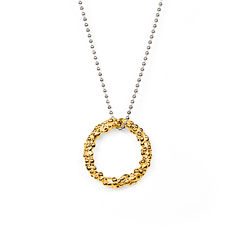 Organica Circle Pendant Necklace - Gold - product images 2 of 3