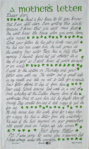 mother s letter to her son tea is the finest tea towel the tea merchant 23700