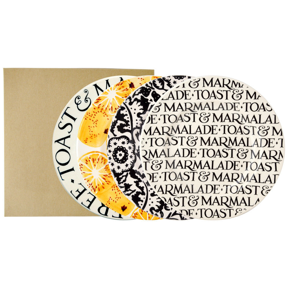 Set 4 Toast and Marmalade Plates by Emma Bridgewater  sc 1 st  The London Tea Merchant & Set 4 Toast and Marmalade Plates by Emma Bridgewater - The London ...