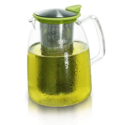 Iced,Tea,Jug,(Lime),with,Basket,Infuser,68oz,Ice Tea Jug with Infuser, Mist Ice Tea Jug 68oz