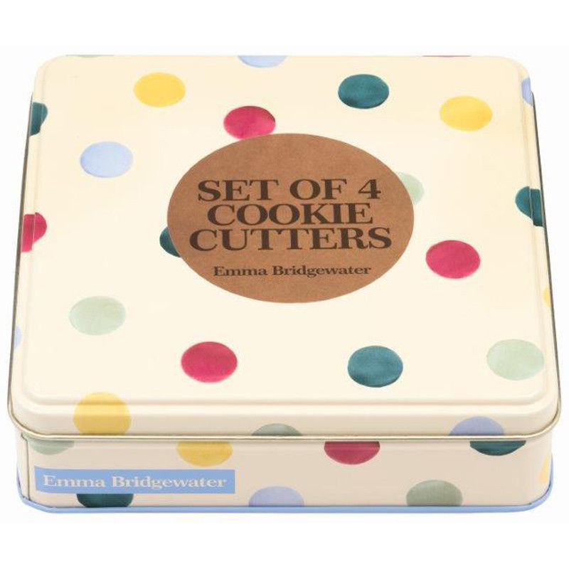 EMMA BRIDGEWATER POLKA DOT COOKIE CUTTERS IN TIN - product images  of