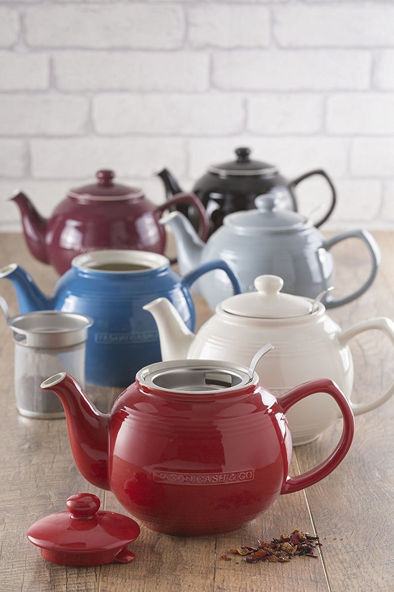 Mason Cash Red Teapot With Infuser Product Images Of