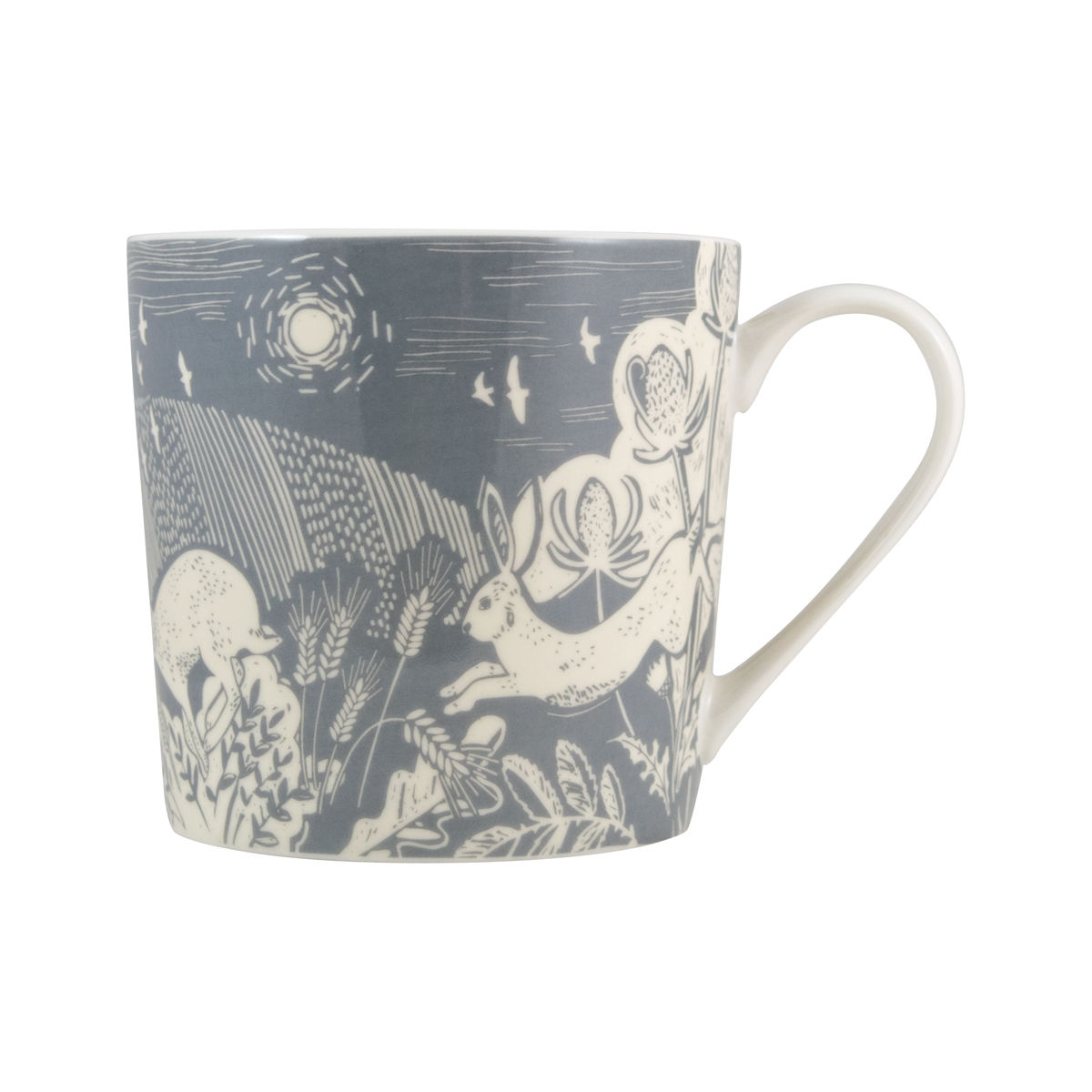 Hare Artisan Mug, Grey - product images  of