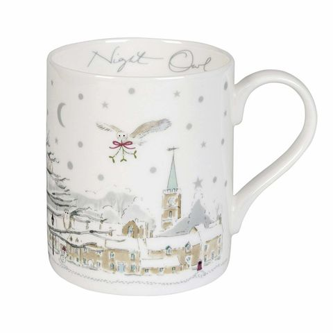 Sophie,Allport's,Night,Owl,over,English,Village,Mug,Sophie-Allport-Night-Owl-Over-Village-Mug