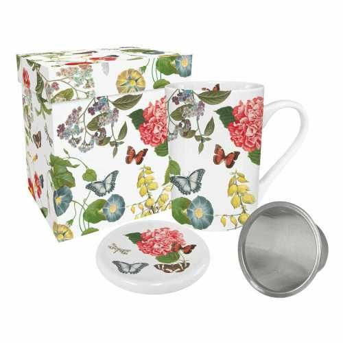 Victoria Garden Tea Mug with Infuser and Lid - product image