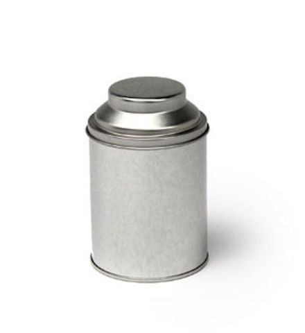 Dome,Top,Tea,Tin,in,Sandy,Silver,Tea_Tin_Caddy_Storage
