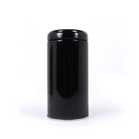 Cylinder,Tea,Tin,Glossy,Black,Tea_Tin_Caddy_Storage_Glossy_Black