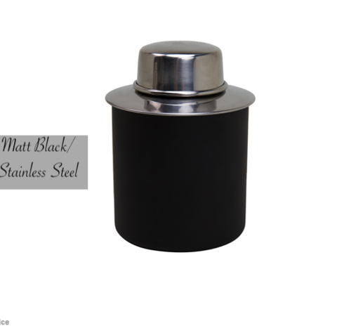 Matt,Black,and,Stainless,Tea,Tin,Stainless_Steel_Matt_Black_Tea_Tin_Caddy