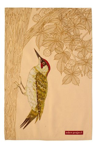 Eden,Project,Green,Woodpecker,Tea,Towel,Eden_Project_Green_Woodpecker_Tea_Towel