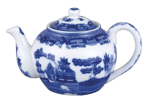 Teapot,16oz,with,Infuser,Teapot_16oz_Blue_Willow_With_Infuser