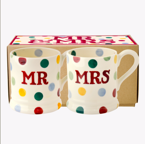 Polka,Dot,Mr.,&,Mrs.,Set,2,Mugs,by,Emma,Bridgewater,Emma-Bridgewater-Polka-Dot-Set-MrandMrs-Mugs