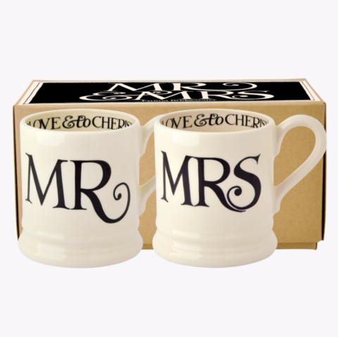 Mr.,&,Mrs.,Set,2,Black,Toast,Mugs,by,Emma,Bridgewater,Emma-Bridgewater-Black-Toast-Set-2-MrandMrs-Mugs