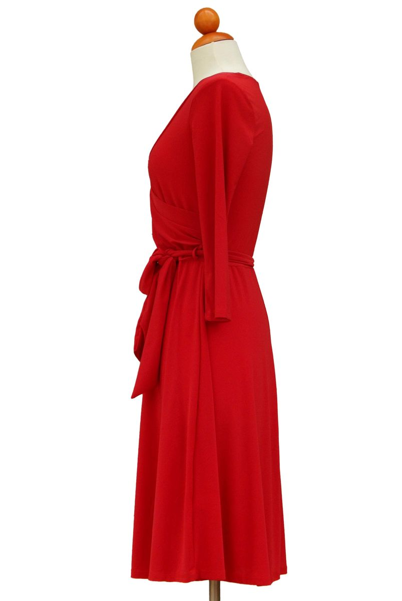 Red wrap dress - product images  of