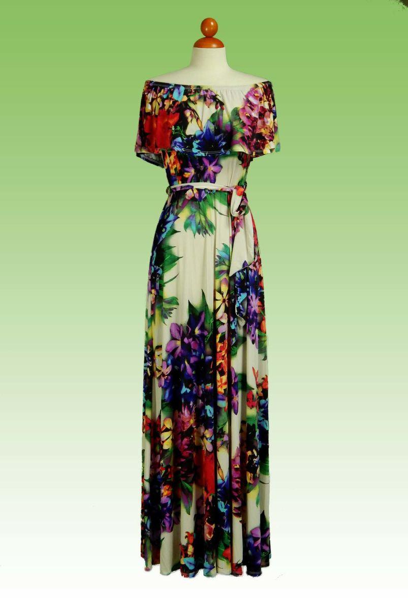 b799f1c3ba ... Off the shoulder jamaica floral maxi dress - product images of ...