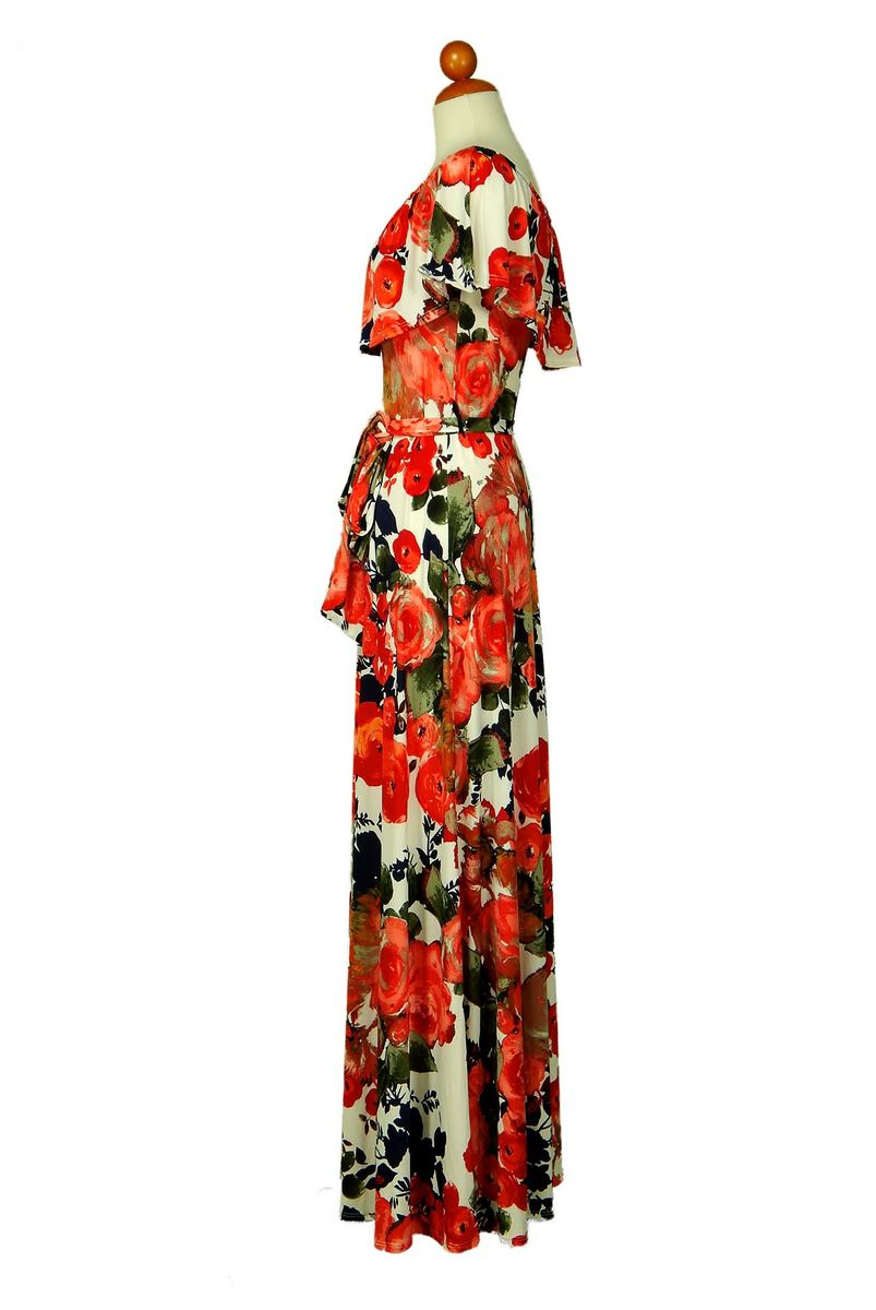 3fba98bada0a ... Peony in red orange off the shoulder maxi dress - product images of ...