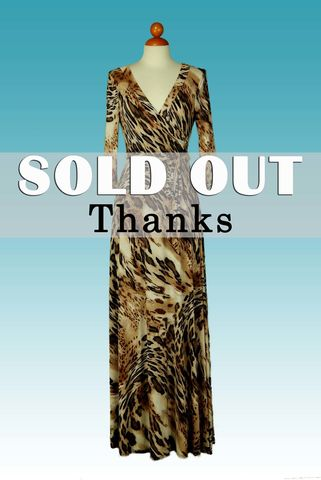 Cheetah,in,brown,maxi,wrap,dress,red apparel, Janette fashion, Janette, Cheetah in brown maxi wrap dress, wrap dress