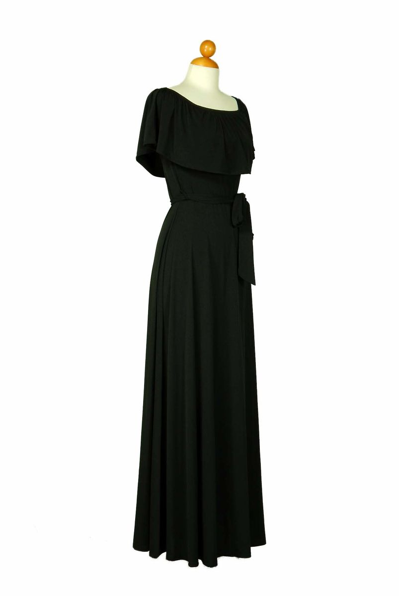 Black off the shoulder maxi dress - product images  of