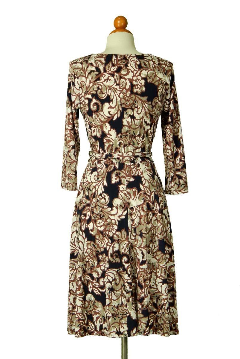 Fern and floral wrap dress - product images  of