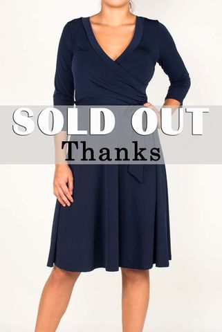 Navy,wrap,dress,red apparel, Navy wrap dress, wrap dress
