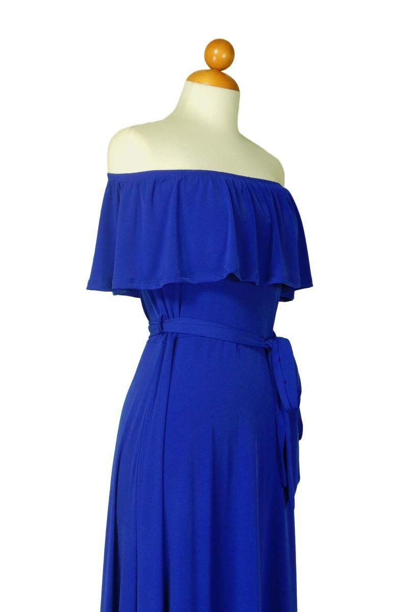 f87771d01123 ... Royal blue off the shoulder maxi dress - product images of