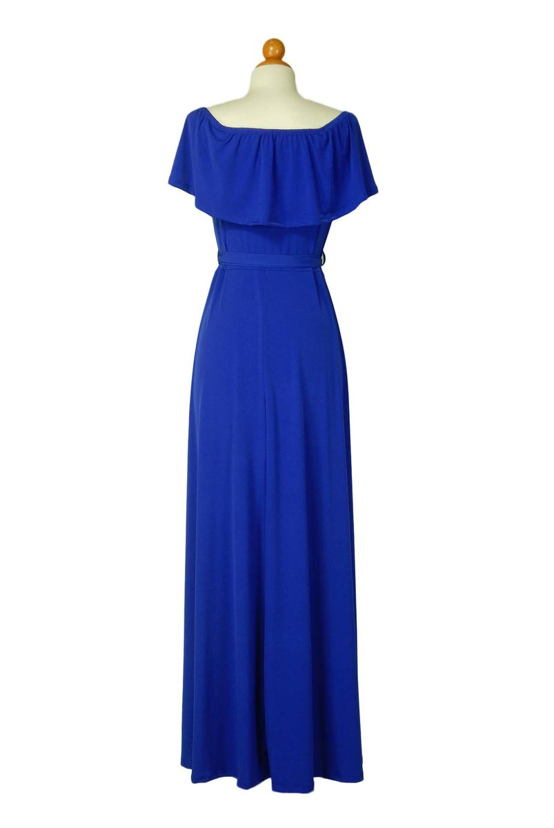 d95ae062ad ... Royal blue off the shoulder maxi dress - product images of ...