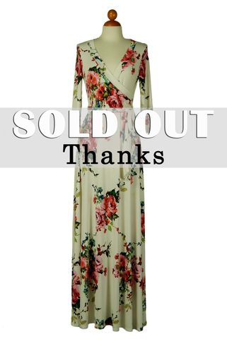 You,got,my,heart,in,cream,maxi,wrap,dress,red apparel, Janette fashion, You got my heart in cream pink maxi wrap dress , wrap dress