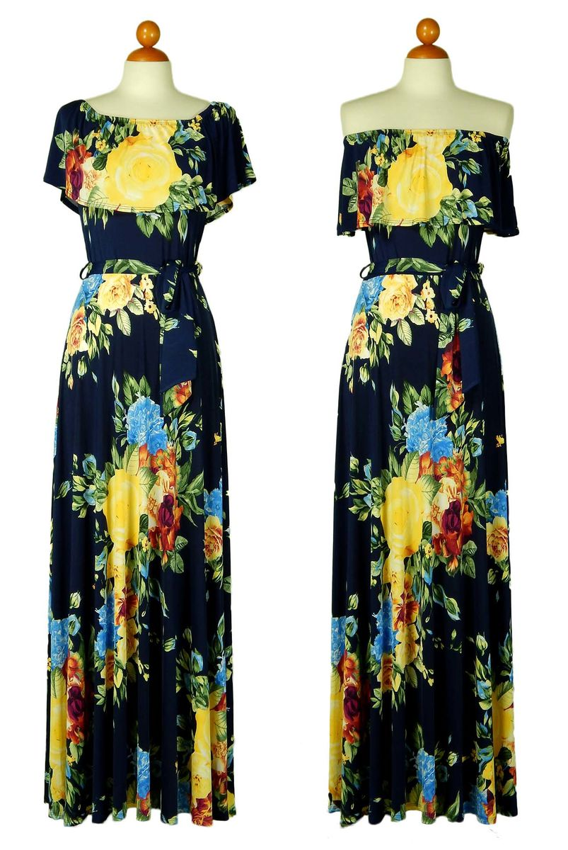 d0e7fcee0314 ... Dahlia in yellow off the shoulder maxi dress - product images of ...