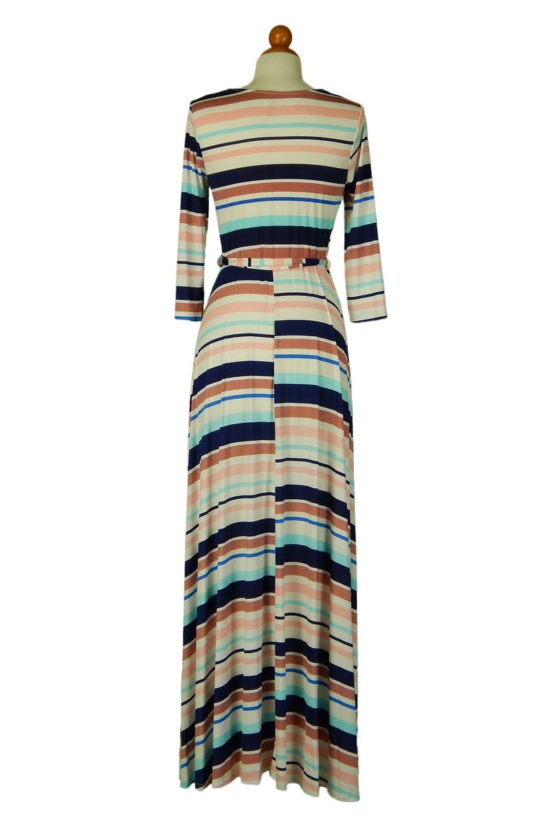 Indian pink stripe maxi wrap dress  - product images  of