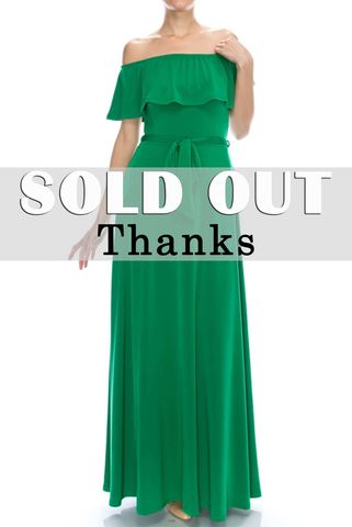 Off,the,sholder,in,green,maxi,dress,red apparel, Janette fashion, Janette, Janette fashion off the sholder in green maxi dress, strap dress