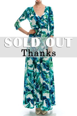 Tropical,in,turquoise,green,maxi,wrap,dress,Tropical in turquoise green maxi wrap dress  , red apparel, redapparelonline, 6ws, Janette fashion, Janette, Maxi wrap dress, wrap dress. work dress, vacation dress, affordable dress