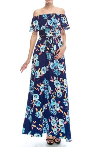 English,garden,in,blue,off,the,shoulder,maxi,dress,red apparel, English garden in blue off the shoulder maxi dress