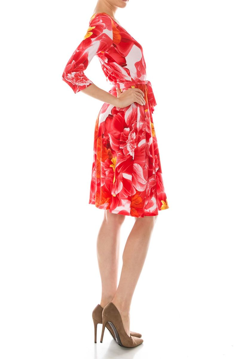 Ramona in red wrap dress - product images  of