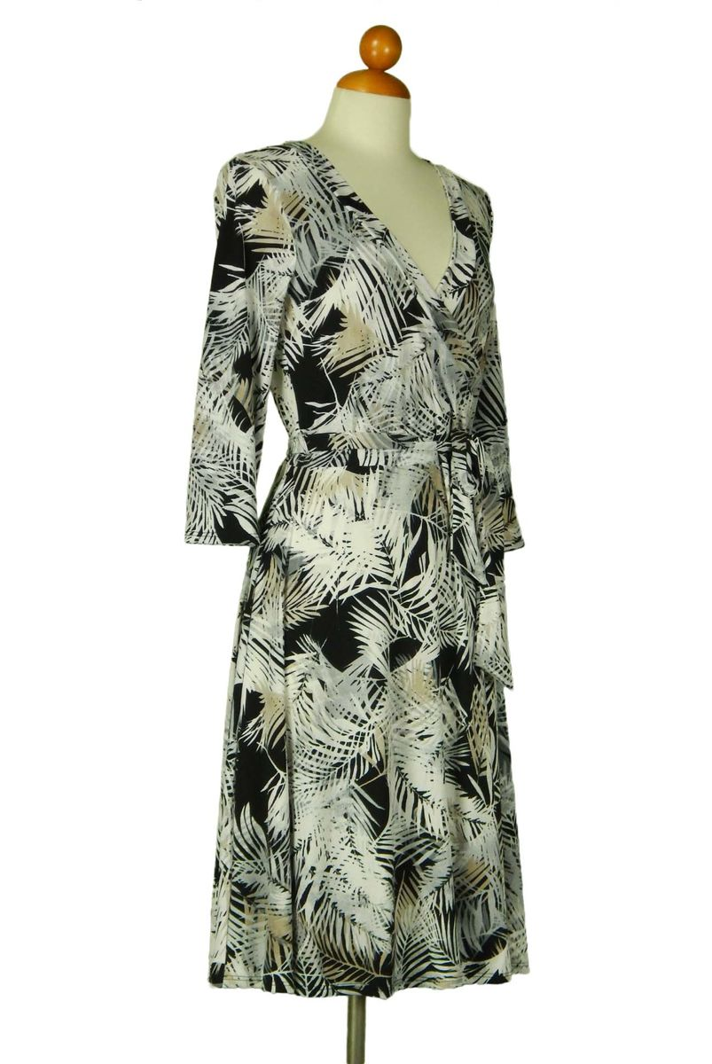 Palm in silver grey wrap dress - product images  of